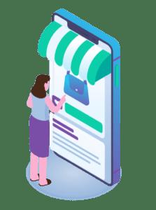 ilustraciones de implementación digital